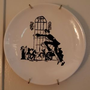 Hand Painted Decorative Plate with wall hanger